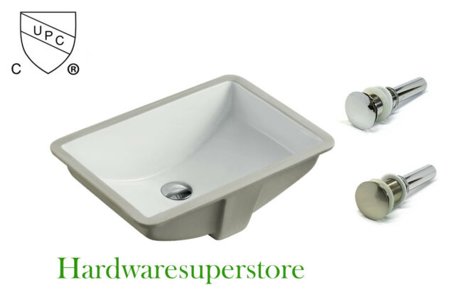 Ceramic Circular Undermount Bathroom Sink With Faucet And Overflow For Sale Online Ebay