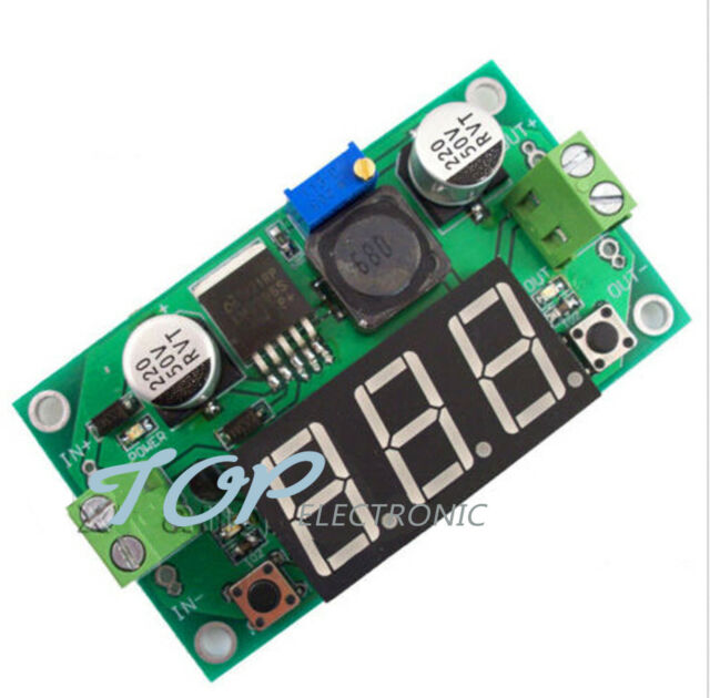 LM2596 DC to DC Buck Step Down Converter Module Voltage Regulator Red Voltmeter