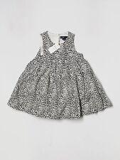 New Baby Girl Gap Black Tan Leopard Print Dress Size 18-24 Months
