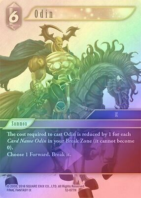 Foil Hero Odin 12-077H Final Fantasy TCG Opus XII