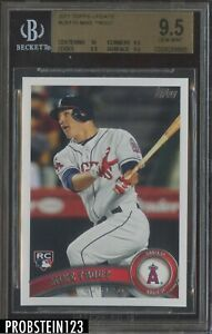 MIKE-TROUT-2011-TOPPS-UPDATE-BASEBALL-US175-ROOKIE-BGS-9-5-GEM-MINT-WITH-10-SUB