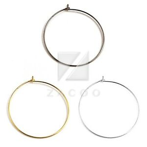 10g-25-40pcs-Steel-Hoop-Earring-Components-Jewelry-Findings-Making-25-30-35-40mm