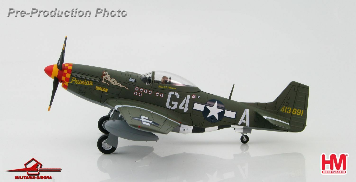 Hobby Master 148 HA7727 P-51D Mustang USAAF Passion Wagon Charles Weaver 1945