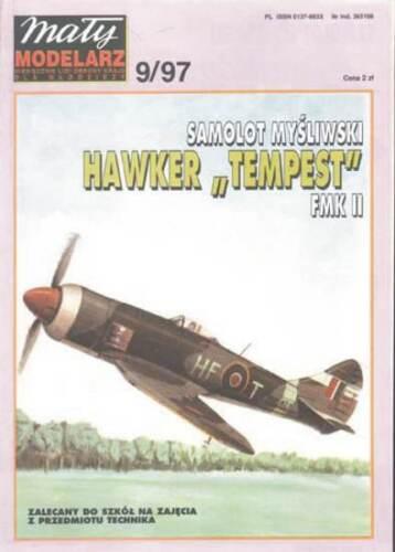 Maly Modelarz 9//97 brit Kampfflugzeug Hawker TEMPEST FMK II     1:33