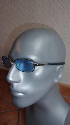 Ahead Sidney Argento 407-117 Baby Blu Designer Occhiali Occhiali Da Sole Vintage Ce-