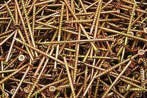 800-Torx-T25-Star-Flat-Head-10-x-4-Yellow-Zinc-Type-17-Outdoor-Wood-Screw-BULK