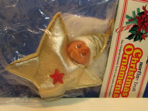 "3/"" Dam Norfin Troll Doll CHRISTMAS STAR//NORFSTAR ORNAMENT NEW IN BAG Rare"