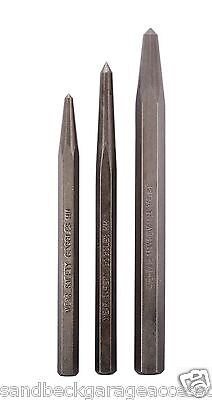 Mayhew Pro 15006 150-Line Pin Punch Set w// Leather Pouch 5 Piece Made in USA