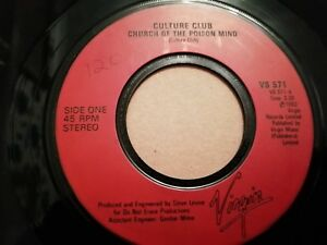 CULTURE-CLUB-CHURCH-OF-THE-POISON-MIND-7-034-SINGLE-VERY-GOOD-1983