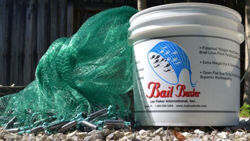 "Bait Buster 12 ft Mesh Bait Cast Net CBT-BB12-NO-DRN-SWL Radius 3//8/"" Sq"