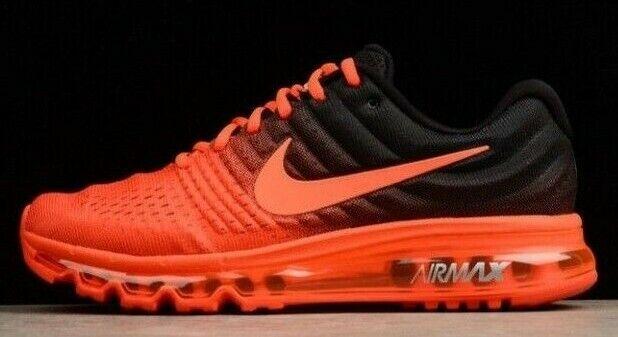 Nike Air Max 2017 Men's Running Shoes Bright CrimsonBlack