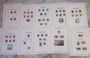 Superb-US-Collection-1930-1940-Used-stamps-almost-complete-Album-Pages
