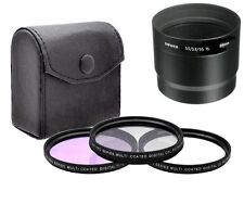 58mm 3 Piece Lens Filter Kit (CPL FLD UV) for Canon PowerShot S5 IS S3 IS S2 IS