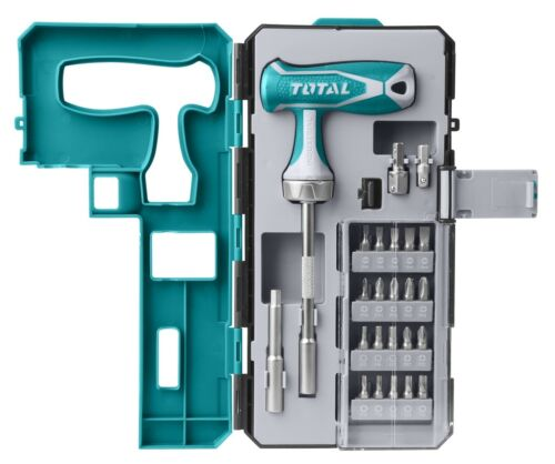 Total 25 Piece T Handle Wrench Screwdriver Set