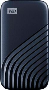 WD - My Passport 1TB External USB Type-C Portable Solid State Drive - Blue