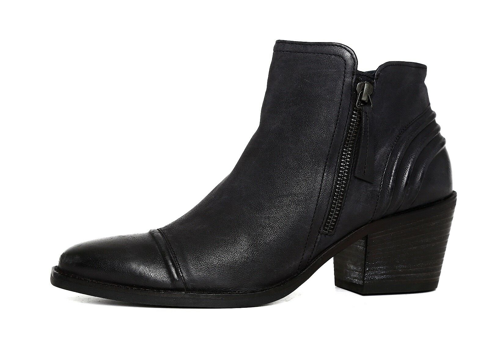 Paul Green Diandra Leather Ankle Bootie Black Women Sz 6 UK 5890
