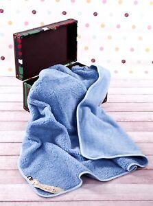 100-MERINO-WOOL-bebe-Junior-enfants-couverture-150-X-120-cm-NEUF-bleu