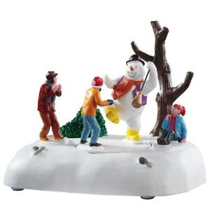 Lemax Christmas Village Town Frosty Frolic 94529 Snowman Children Animated