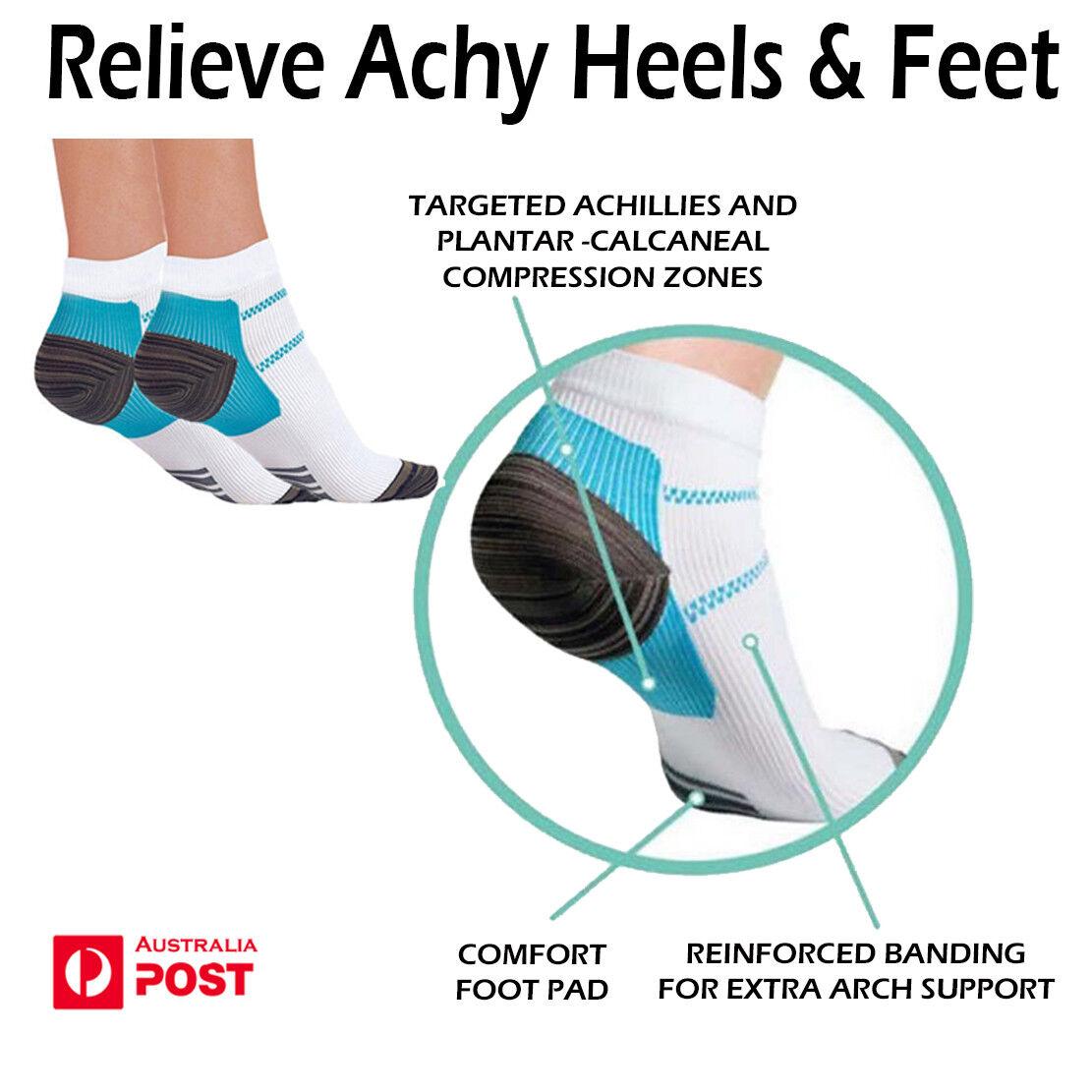 7063ffbd4f Hot Sports Compression Socks Plantar Fasciitis Heel Arch Pain Relief ...