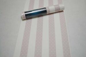 Vliestapete 13621-10 Erismann Tapete Streifen Herzen rosa pink weiß 1362110 BOR