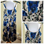 L-K-BENNETT-100-Silk-Strappy-Midi-Dress-UK-8-Cobalt-Blue-Floral-Occasion-Races thumbnail 1