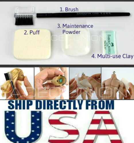 Seamless Figure Body Maintenance Powder Brush Clay Set For Hot Toys Phicen USA