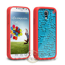 Samsung Galaxy S4 PureGear Gamer Case A-Mazing Blue/Red Cover Shell Protector