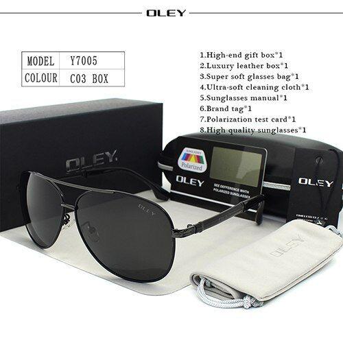 Hot Sell OLEY Luxury sunglasses men polarized Classic pilot Sun glasses fishing