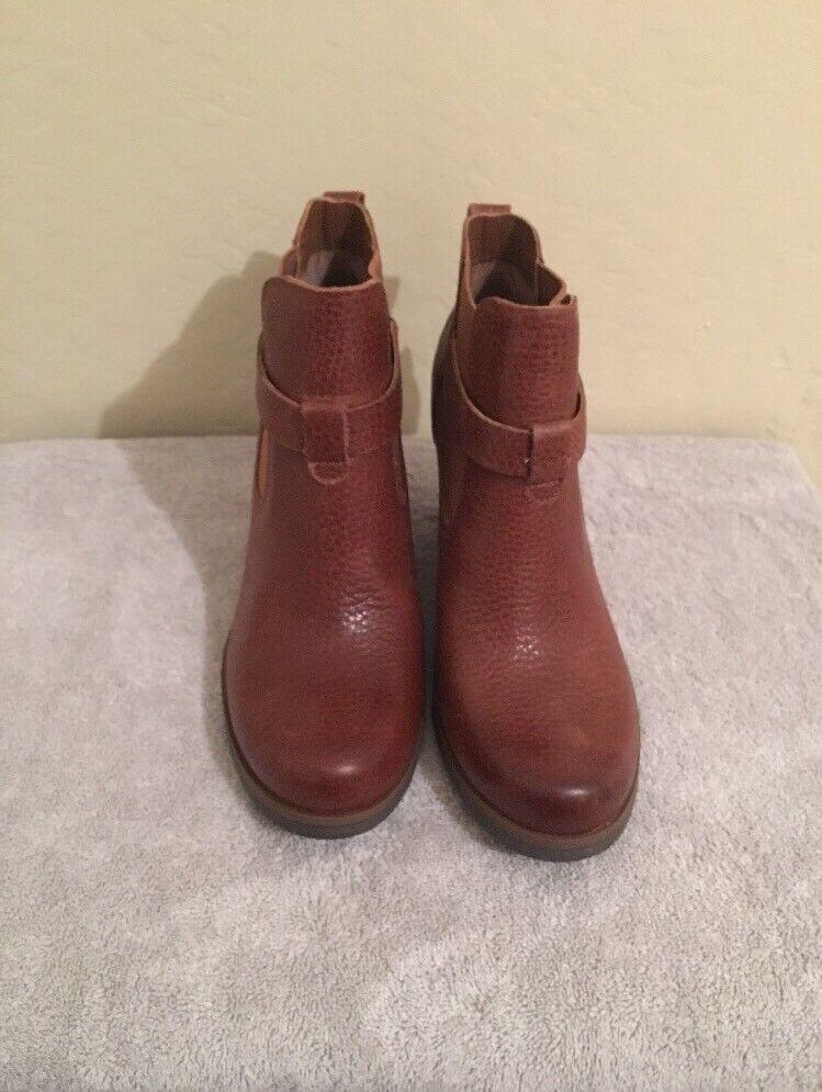 Kork Moonstone Round Toe Damens's Leder Ankle Stiefel Größe 7.M