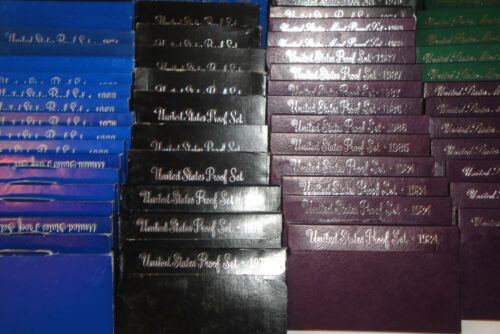 Free Ship 1 Randomly Selected Per Lot Huge Estate Sale 1968-1996 Proof Sets