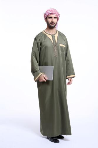 Muslim Boys Kids Mans Saudi Thobe Thawb Jubba Abaya Robe Arab Dishdasha Islamic
