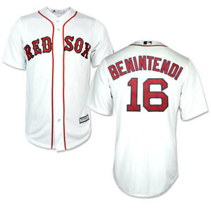 hot sale online 74ad9 4f50d Details about Andrew Benintendi #16 Boston Red Sox Majestic Cool Base White  Jersey LARGE