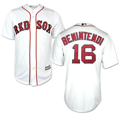 best sneakers f9db1 83011 Andrew Benintendi #16 Boston Red Sox Majestic Cool Base White Jersey XL |  eBay
