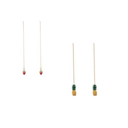 Élégant Femmes Longue Chaîne fruits Ear Drop Dangle Ear Stud Boucle d/'oreille Fashion Jewelry