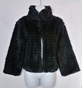 Lapis Women's Black Faux Fur Coat Size L