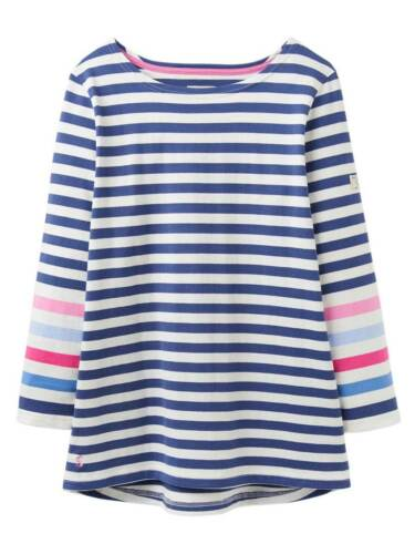 Sizes UK 8-18 SS19 Cream Blue Stripe Joules Ladies Harbour Jersey Top