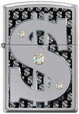 Zippo - Money w/Swarovski Crystals High Polish Chrome