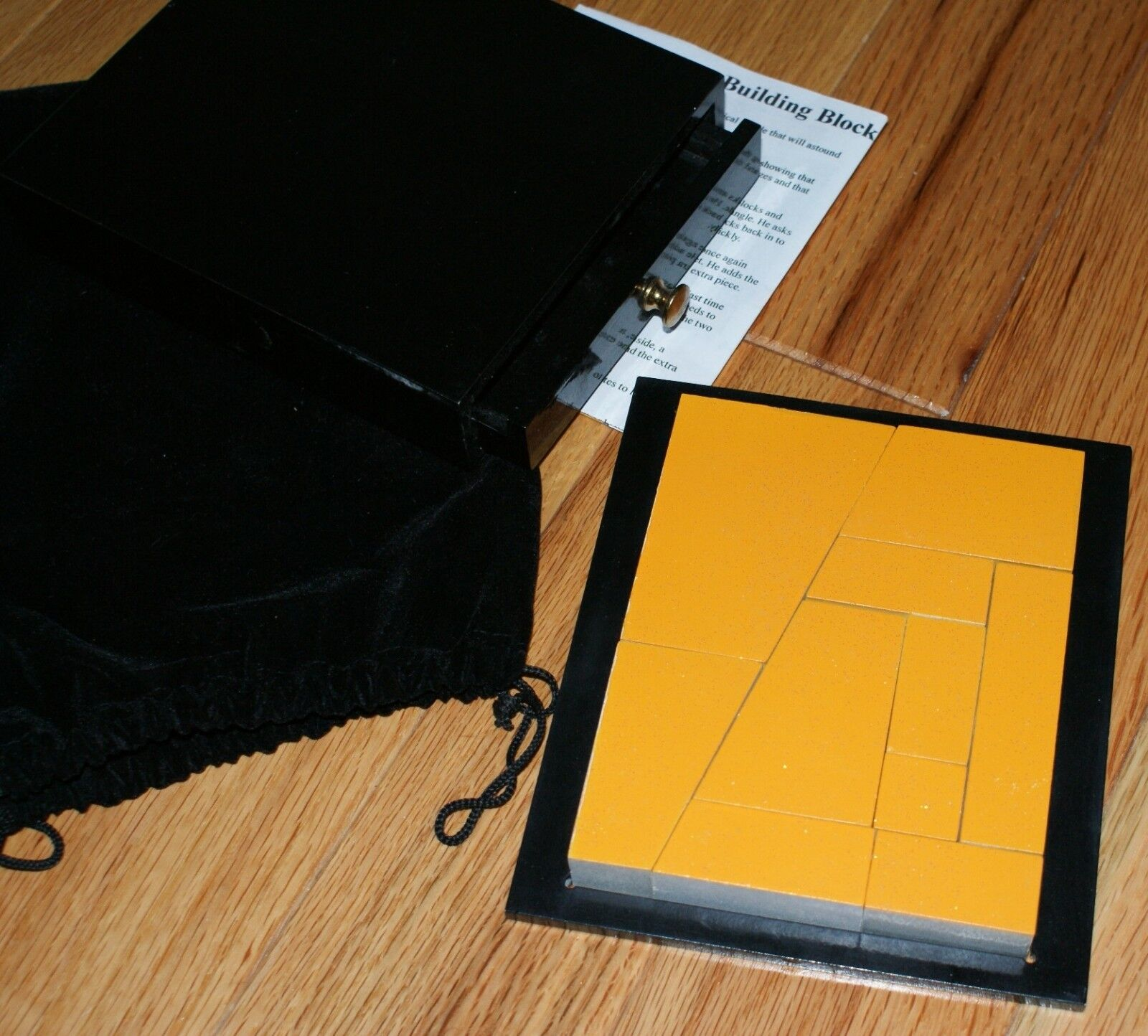 Blocco Costruzione Mistero Deluxe -- Legno con Cassetto -- Very Cool   Tmgs