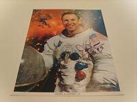 JAMES JIM LOVELL APOLLO 8 13 AUTOGRAPHED SIGNED NASA COLOR 8X10 PHOTO PSA (P)