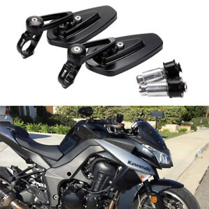 Handle Bar End Mirrors Motorcycle For KAWASAKI ER6N ZZR1400 Z1000 Z900RS