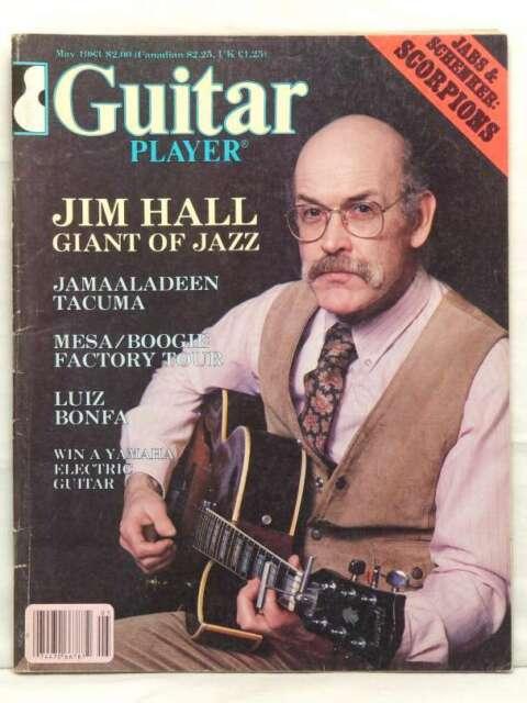 GUITAR PLAYER MAGAZINE JIM HALL LUIZ BONFA SCORPIONS JAMAALADEEN TACUMA MAY 1983