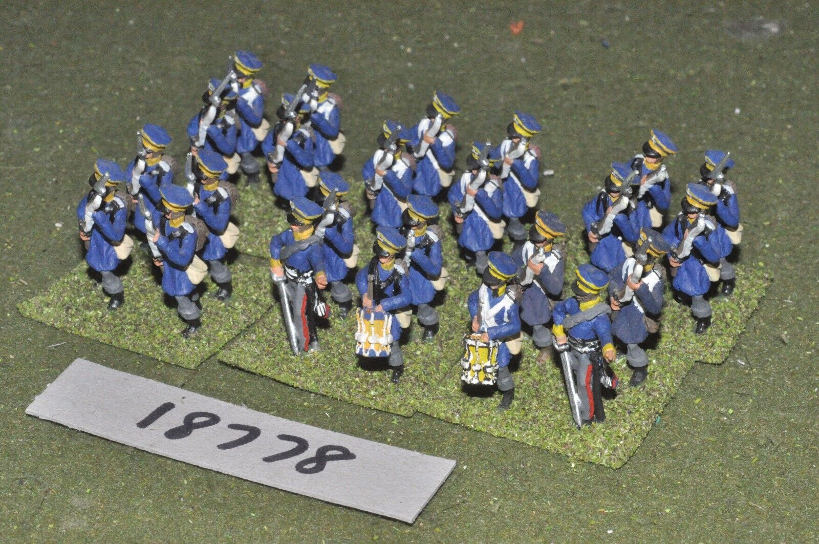25mm napoleonic   prussian - infantry 24 figs - - - inf (18778) c7136b