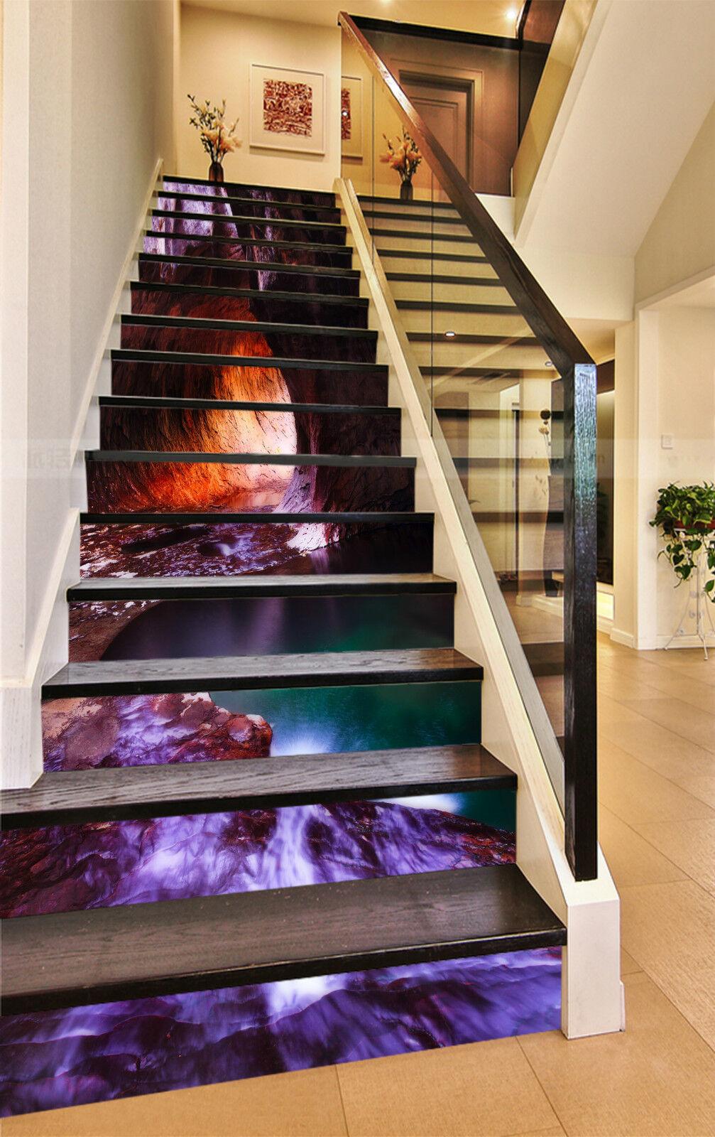 3D Hhle Ansicht 36 Stair Risers Dekoration Fototapete Vinyl Aufkleber Tapete DE