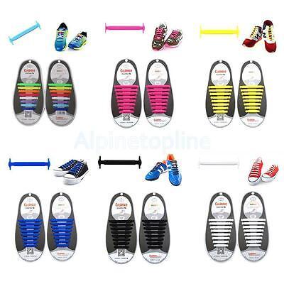 16pcs Lazy No Tie Shoelaces Silicone Shoelaces Elastic Shoe Laces for Sneakers