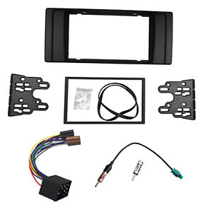 Double-Din-Radio-Fascia-for-BMW-5-Series-E39-X5-E53-ISO-Antenna-Adapter-Trim-Kit