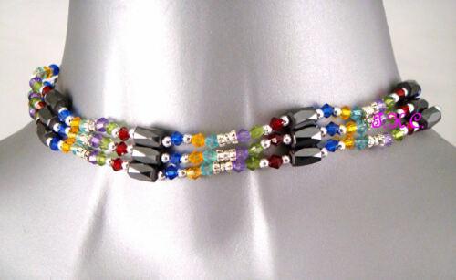 Magnetic Relief Hematite Rainbow Lariat Necklace Anklet Bracelet Upper Arm Cuff