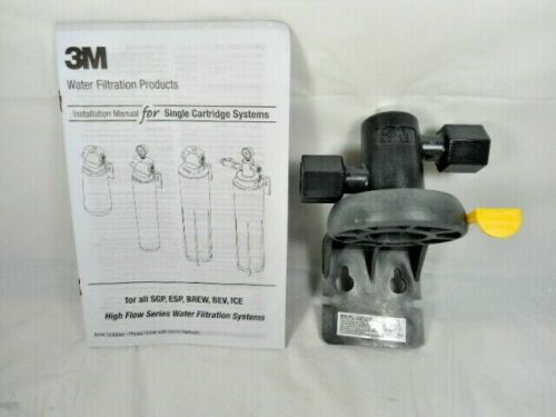 """3M Water Filteration Head Assembly NH3-NPT 1//2/"""" P//N 62144-13 With Manual"""
