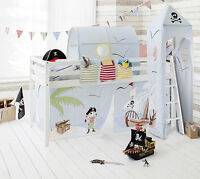 Cabin Bed Mid Sleeper Kids Bed With Tent, Tower And Tunnel 57pp
