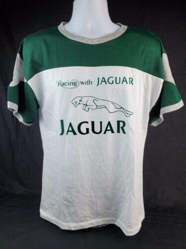 NOS 1980's Jaguar Racing T-Shirt Green & White Men