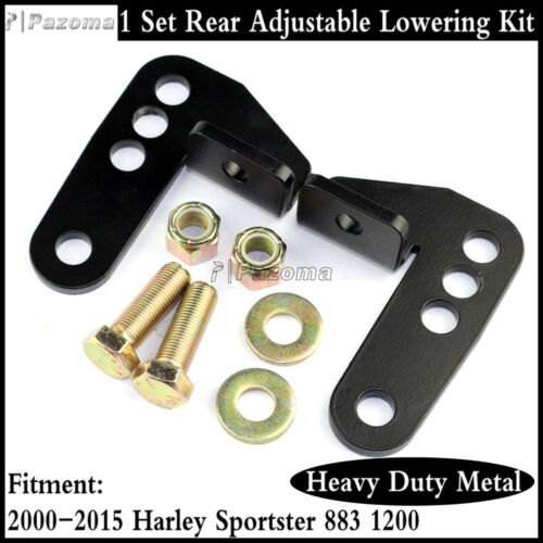 Rear Adjustable Shock Mount Lowering Drop Kit Fits Harley Sportster XL883 XL1200